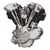 Nášivka LOWBROW KNUCKLEHEAD ENGINE